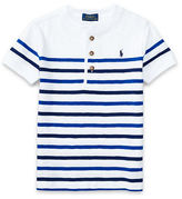 Ralph Lauren Childrenswear Striped Short Sleeve Henley