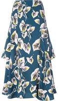 Marni 'Amlapura' print A-line skirt