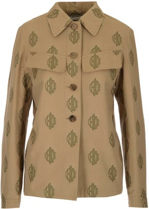 Chloé Logo Embroidered Shirt Jacket