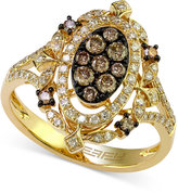 Effy Espresso and White Diamond Ring (2/3 ct. t.w.) Ring in 14k Gold