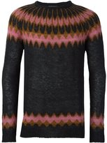 Laneus geometric intarsia jumper