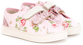 MonnaLisa Lisa sneakers - kids - Cotton/Leather/Canvas/rubber - 27