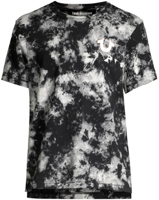 True Religion Buddha Acid Wash Graphic Tee