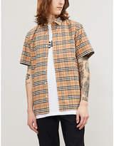 Burberry Checked regular-fit stretch-cotton shirt