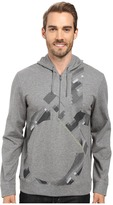 Calvin Klein Long Sleeve Solid Ponte Printed Q-Zip Hoodie