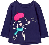 Gymboree Doxon Navy 'Oui Oui' Appliqué Tee - Infant & Toddler