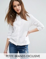 Waven Petite Fitted White Shirt