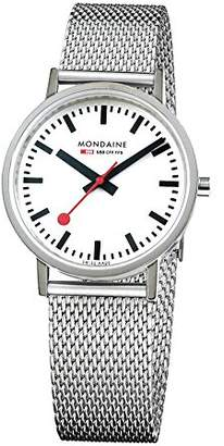 Mondaine Unisex-Adult Quartz Watch, Analogue Classic Display and Solid Stainless Steel Strap A660.30314.11SBV