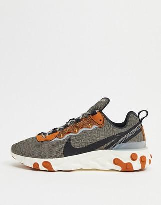 Nike React Element 55 SE sneakers in bio beige
