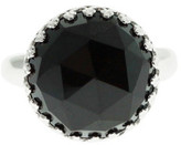 Heather Hawkins Splendor Rose Cut Ring - Black Spinel / White Gold