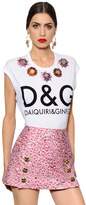 Dolce & Gabbana Embroidered Print Cotton Jersey T-Shirt