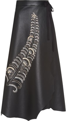 Prada sequin feather A-line skirt