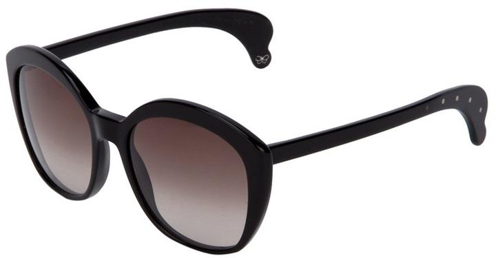 Bottega Veneta oversized structured sunglasses