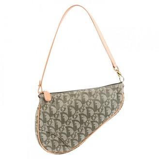 Christian Dior Beige Cloth Shoulder bags