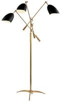AERIN Sommerard Triple-Arm Floor Lamp - Brass/Black