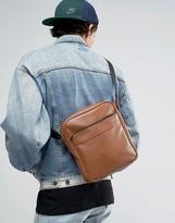 Asos Flight Bag In Brown With Zip