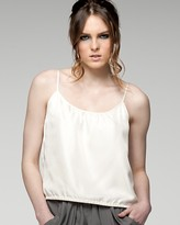 Shirred Crop Camisole