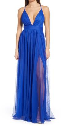 Emerald Sundae Plunge Tulle Gown