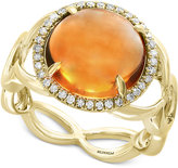 Effy Final Call by Citrine (5-1/2 ct. t.w.) & Diamond (1/6 ct. t.w.) Ring in 14k Gold