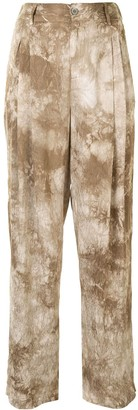 Raquel Allegra Textured-Finish Trousers