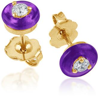 Vittorio B. Fine Jewels Belle Ciambelle 14K Gold Amethyst and Diamond Earrings
