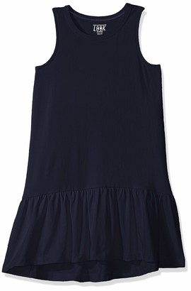 LOOK by Crewcuts Amazon/J. Crew Brand Girls' Ruffle Hem Tank Dress