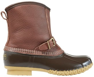"L.L. Bean Men's L.L.Bean Boots Tumbled-Leather, 8"" Lounger Shearling-Lined"