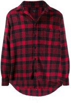 Not Guilty Homme checked flannel shirt jacket