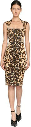 Thierry Mugler Printed Stretch Gabardine Pencil Dress