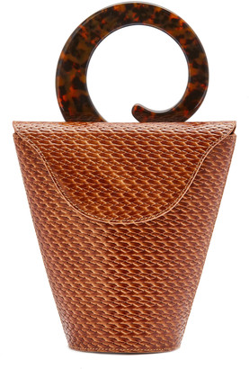 USISI SISTER Consti Woven Leather Top Handle Bag