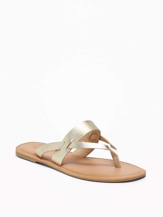 Old Navy Faux-Leather Capri Slide Sandals for Women