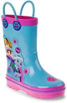 Nickelodeon Girls Paw Patrol Toddler Rain Boot -Blue/Pink