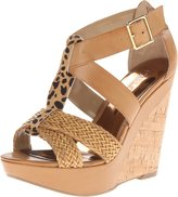 Carlos Santana Carley Women US 10 Tan Wedge Sandal