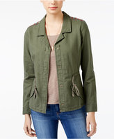 American Rag Embroidered Utility Jacket, Only at Macy's
