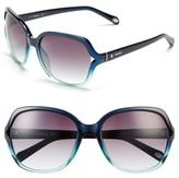 Fossil Women's 'Jesse' 58Mm Oversize Sunglasses - Aqua Fade