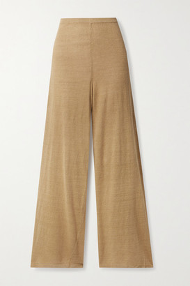 Cult Gaia Shauna Linen-blend Wide-leg Pants