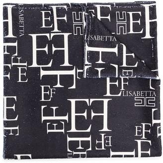 Elisabetta Franchi La Mia Bambina Logo Print Towel