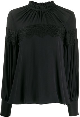 L'Autre Chose lace panel bohemian blouse