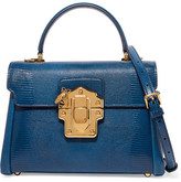 Dolce & Gabbana Lucia Medium Lizard-effect Leather Shoulder Bag - Blue