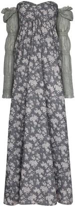 Masterpeace Floral-Print Off-The-Shoulder Maxi Dress