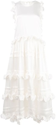 Cecilie Bahnsen Tiered Ruffle Maxi Dress