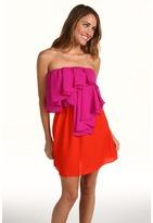 T-Bags Tbags Los Angeles - Strapless Combo Dress (Purple/Orange) - Apparel
