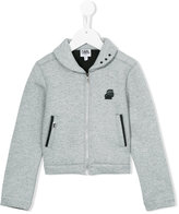 Karl Lagerfeld zipped jacket - kids - Cotton/Polyester/Spandex/Elastane - 8 yrs