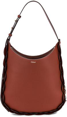 Chloé Medium Darryl Leather Bag in Sepia Brown | FWRD