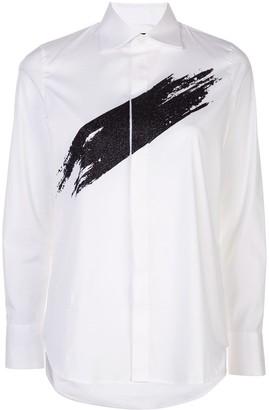 DSQUARED2 Glitter Paint Swipe Shirt