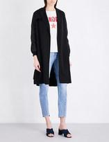 Sandro Bomber-sleeve twill coat