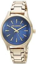 Karl Lagerfeld Women's 'Janelle' Quartz Stainless Steel Casual Watch, Color:Gold-Toned (Model: KL1628)