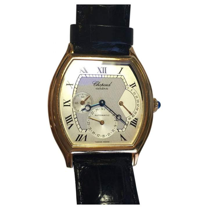 Chopard Black Yellow gold Watches