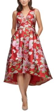Eliza J Petite High-Low Fit & Flare Dress