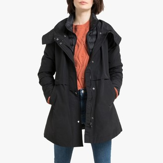 Esprit 2-in-1 Mid-Length Parka with Removable Padded Jacket with Pockets